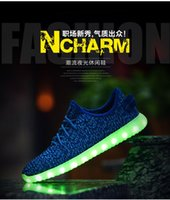 Wholesale LED Flash Shoes Color USB charging Boost Sneakers Running Shoes for Mens And Womens shoe Footwear DHL pair