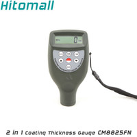 Wholesale Fe NFe in One Build in Probe Color Screen Coating Thickness Gauge CM8825FN Handheld Pocket Size Auto Paint Thickness Tester