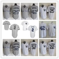 Wholesale Mens New York Yankees Derek Jeter Dellin Betances Mariano Rivera Mark Teixeira CC Sabathia Baseball Stitched Jerseys