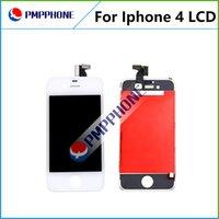 AAA Qualité Blanc Noir LCD écran tactile digitaliser des pièces complètes Assemblée de Repalcement pour iPhone 4 4G