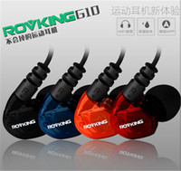 Wholesale Original ROVKING g10 Sport Earphone with Mic for iPhone Samsung Galaxy HTC in ear Sound Isolating Headphone with retail box pc up
