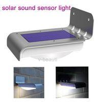 Wholesale new LED Solar Power Motion Sensor Garden Security Lamp Outdoor Waterproof Light beautiful bright light