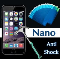 Wholesale Nano Anti Shock Soft Screen Protector Explosion Proof Protective Coverage Film Guard For iPhone Plus S S Samsung S7 S6 edge Note