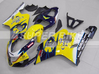 Wholesale New Fitment motorcycle ABS Fairing Kit Fit For Suzuki GSXR600 GSXR750 R600 R750 K4 Cool yellow blue corona