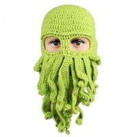 animal ski pants - Unisex Octopus ski cap Mask Ski Octopus Beard Cap Beanie Tentacles Sea Animal