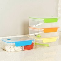 Wholesale New Arrival Transparent Lunch Box Three Compartments Bento Box Snack Dinnerware Set Microwave Oven Plastic Food Container JH0040