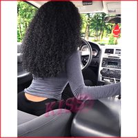 Cheap European hair Brazilian virgin hair Best Afro Curly Rihanna's Hairstyle full lace wig