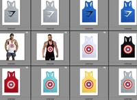 Wholesale Gym shark Cotton Tanks Men Stringer Bodybuilding Tank Top GymShark Fitness Y Back Muscle Bodybuilding Vest Undershirt Models for choice