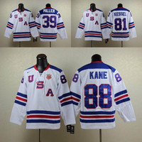 Wholesale American USA Team Ice Hockey Jerseys Mens Patrick Kane Phil Kessel Ryan Miller Stitched Jersey