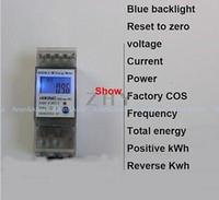 Wholesale A V Single phase Din rail KWH Watt hour din rail energy meter LCD