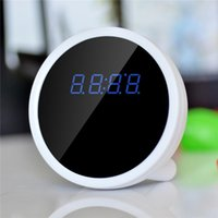 Wholesale Full HD x Alarm Clock WIFI Camera with Real Time View Function Cool Smartphone Wi Fi Spy Monitor Clock camera