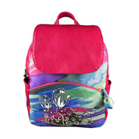 beautiful backpacks - Hot sell beautiful colorful woman backpack middle tulip undergraduate school bag special tranditional knapsack bag