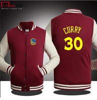 Wholesale BASKETBALL GOLDEN STATE CURRY WARRIOR SPRING FALL WINTER Jacket lover s Sweatshirt baseball uniform for MAN COLORS