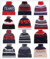 bamboo houston - 14 Colors Houston Beanies Winter High Quality Beanie For Men On Field Texans American Football beanie Sports Caps Allow Mix Order