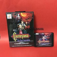 Wholesale DC MD SS SEGA Memery Cards Castlevania The New Generation bit MD Game Card With Retail Box For Sega Mega Drive For Genesis