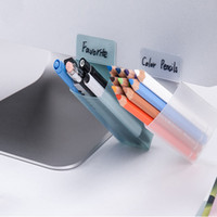 Cheap Wholesale-5pcs DIY creative pen holder Artifact computer monitor can stick style glove storage box case desk organizer office accessories