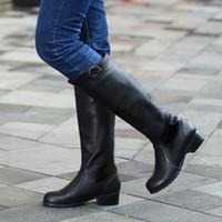 b squared design - Women Fashion Boots Warm Full Grain Leather Ladies Warm Winter Snow Half Boots Round Toe Design Hot Sales