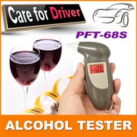 Wholesale Digital LCD Alcohol Breath Analyzer Breathalyzer Tester Keychain Audible Alert
