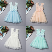 Ruffle beaded boat neck - Baby Girls Clothes Lace Tutu Dresses Childrens Prubcess Sequins Dresses for Kids Clothing Winter Summer Party Dress