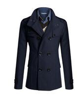 Wholesale Young urban leisure fashion men new men Korean Slim and long sections windbreaker jacket