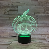 alternative diy - Halloween Pumpkin D Control Led Night Light Alternative Color LED Desk Lamp Table Lamp Christmas gift