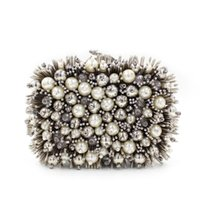 american hedgehog - 2016 European and American diamond beaded evening bag Heavy hedgehog foreign high grade pearl evening bag banquet