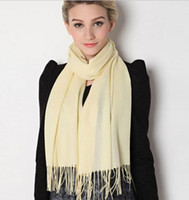 Wholesale Cashmere Ladies Scarfs Wholesale - Fashion Scarves Pashmina Cashmere Solid Shawl Wrap Women's Girls Ladies Scarf Soft Fringes Solid Scarf Drop Shipping