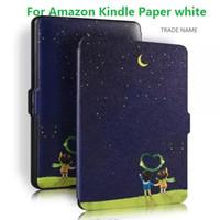 Ebook blanc Prix-Retro Mosiso Vintage ebook Affaire pour Amazon Kindle Paperwhite papier blanc 1 2 Auto Sleep Slim PU Leather Flip Cover Livraison gratuite