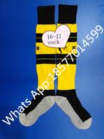 Wholesale Stocking Football Socks - New Arrival 2016 17 Dortmund Home socks 16 17 REUS Dortmund socks Yellow Home Soccer Socks football stocking free shipping