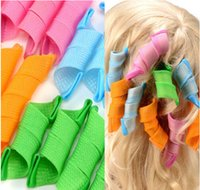 bendy hair curlers - 18PCS Set Candy Color DIY Leverag Hair Curlers Tool Styling Rollers Spiral Circle Perm Retail Package