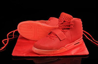 air signs - With Box The latest styleTrainers Kanye West Signs Fans Air Y II quot Red October quot men s Basketball Shoes Size US