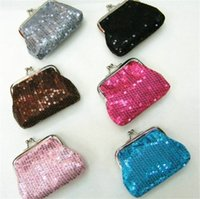 Wholesale 2016 Coin Purses Wallet paillette sequin Hasp Coin Purse Kids Girls Mini Purses Women Ladies Wallets Money Bag Party Christmas Gifts Hot