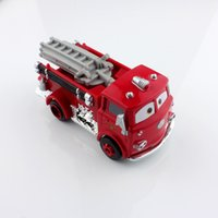 Cheap New pixar kids cars toys race car fire fighting truck engine Red metal scale diecast Vehicles diecast figure models toys figure for children