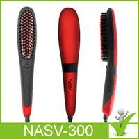 Original Nasv-300 Hermosa Estrella enderezadora de pelo de peinado LCD Controles de temperatura Alisar el masajeador de pelo VS albañil cepillo de pelo