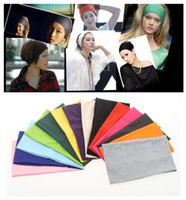 Wholesale fema elastic sports wide yoga hair band dancing running headband Gmy headwear