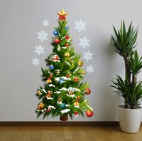 Wholesale Christmas trees trade Christmas decoration waterproof wall stickers custom murals in the New Year wall of setting of the