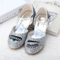 Wholesale 016 New Arrival Girl Summer Winter Sliver Fashion Girls Dancing Shoes Mary Jane Hot Sales Kids Princess Chinese Embroidery Handmake Casual