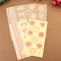 Wholesale Hot Lovely White Lace Heart Transparent Seal Stickers Phone Diary Decor DIY For Scrapbooking Envelopes Cup Gift Pack