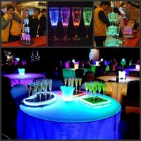 Wholesale 6Pcs per Liquid active LED Champagne Glass light up LED Flash Champagne Cup for club bar Party Decoration Christmas supplies CM