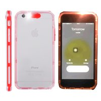 call back - For iphone s plus Case Hybrid Incoming Calls LED Call Flash Light Case Transparent Clear TPU PC Flishlight LED Phone Back Cover
