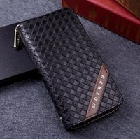Wholesale Men s brand casual men s long PU wallet money phone holders