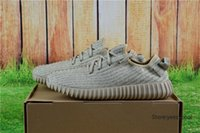 Cheap With Original Box Adidas Yeezy Running Shoes 350 Boots Men Women Yeezys Boost Cheap 2016 New Hot Sale Oxford Tan Free Drop Shipping