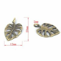 agate meaning - Antique Bronze Tone Hollow Leaf Charms Pendants ZX0042 pendant agate pendant meaning