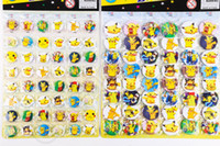 anime buttons pins - Pikachu Badge Cartoon Round Brooch Button Pin Kid Gifts Sheet Poke Roleplay Anime Brooch OOA510