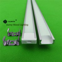 ap covers - 10pcs inch m led strip profile for tape led profile with cover for mm hard strip AP
