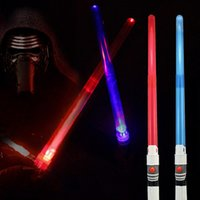 Wholesale New Arrival Star Wars Action Figure Cosplay Toys Telescopic Laser Sword Stick With Light Sound For Kids Xmas Gift