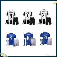 Wholesale DHL Mixed buy Adult Kit socks Juventus Home Away ed Soccer Uniform Jerseys HIGUAIN Pogba DYBALA PJANIC
