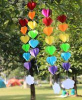 baby sprinkle - 3D Clouds Rainbow Heart Garland DIY Nursery Mobile Sprinkle Baby Shower Decor