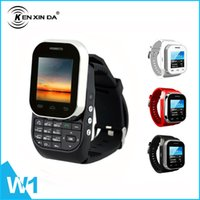 android watch phone - Original Kenxinda W1 GSM Watch Phone SC6531 Single Core Inch MB RAM MP Dual SIM Card Russian Language