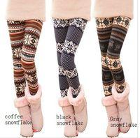 Wholesale So Cute Woman Fashion Lovely Cotton Print Fairisle Nordic Reindeer Motifs Leggings